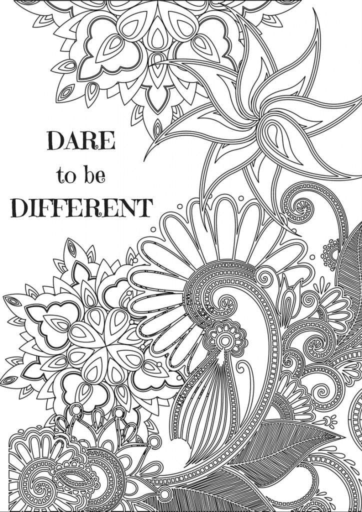 motivational coloring pages - inspirational quotes for adult coloring pages