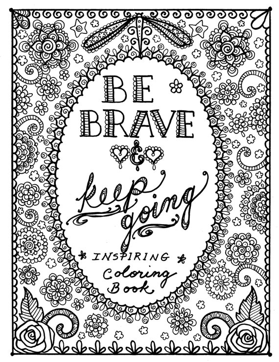 motivational coloring pages - motivational quotes coloring pages