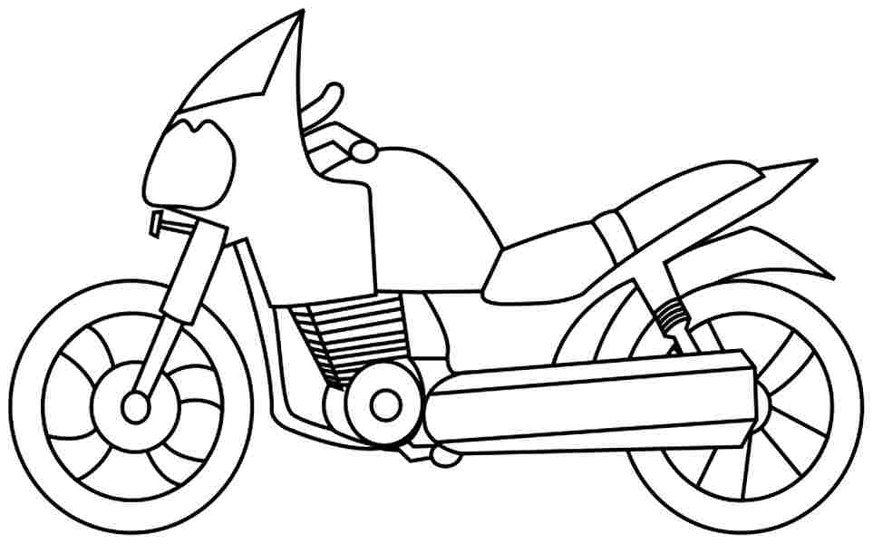 motorcycle coloring pages - coloring pages of motorcycles