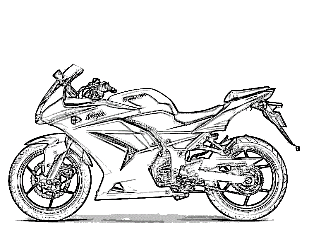 Motorcycle Coloring Pages - Free Printable Motorcycle Coloring Pages for Kids
