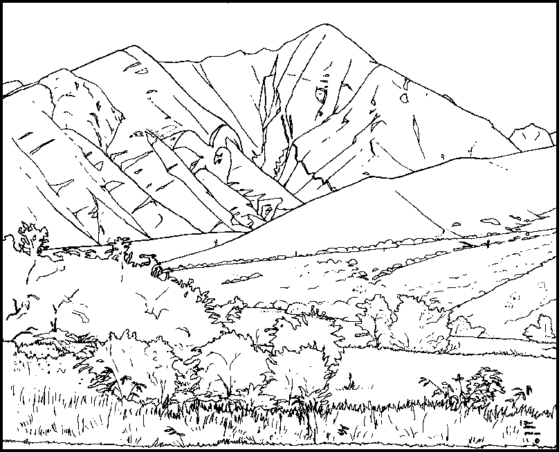 mountain coloring pages - coloring pages of mountains