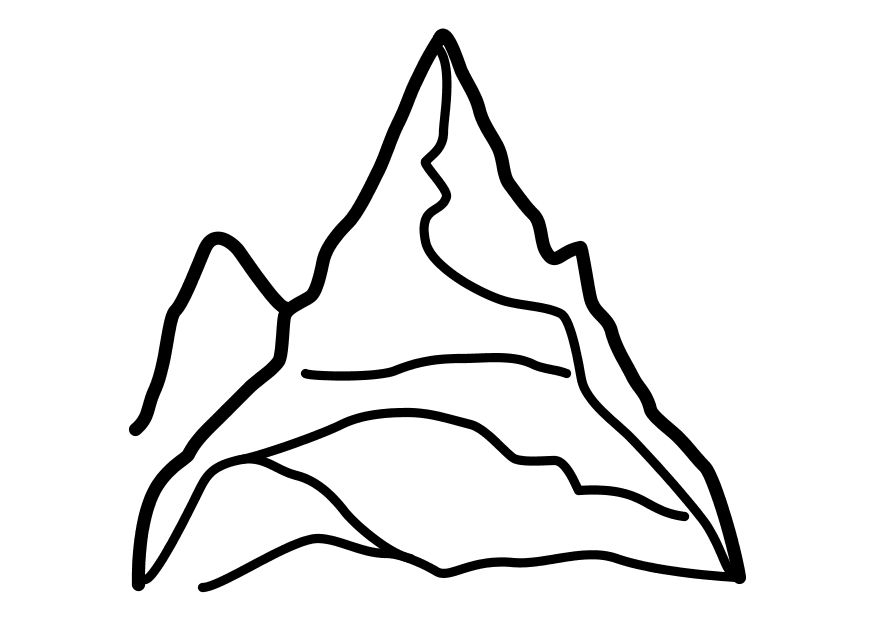 Mountain Coloring Pages - Mountain Mountains Coloring Page