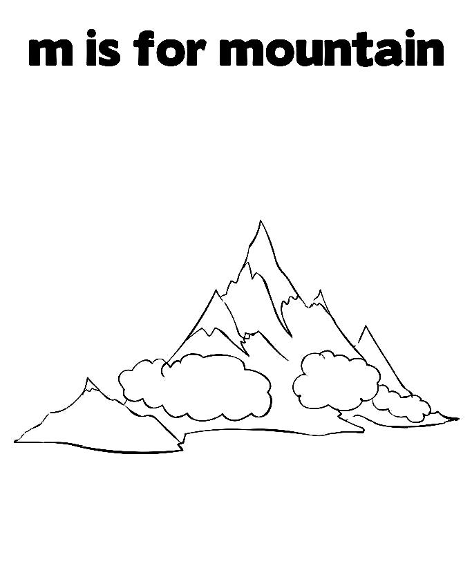23 Mountain Coloring Pages Selection Free Coloring Pages