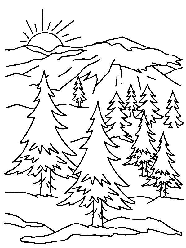 23 Mountain Coloring Pages Selection | FREE COLORING PAGES