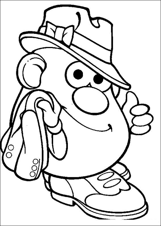 Mr Potato Head Coloring Page - Kids N Fun