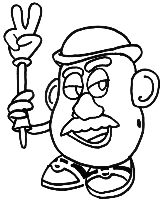 mr potato head coloring page - mr potato head clip art