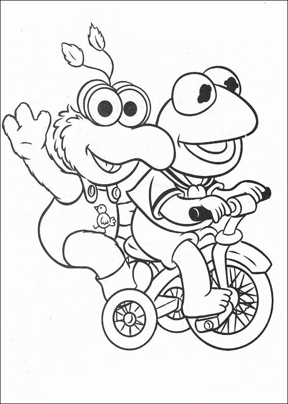 muppets coloring pages - muppet babies coloring pages