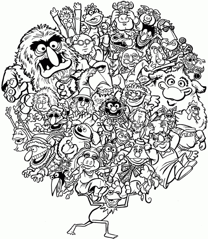 23 Muppets Coloring Pages Images   FREE COLORING PAGES - Part 2