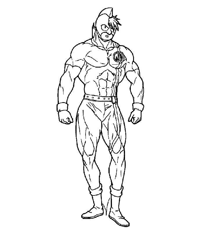 muscle coloring pages - ultimate muscle coloring pages