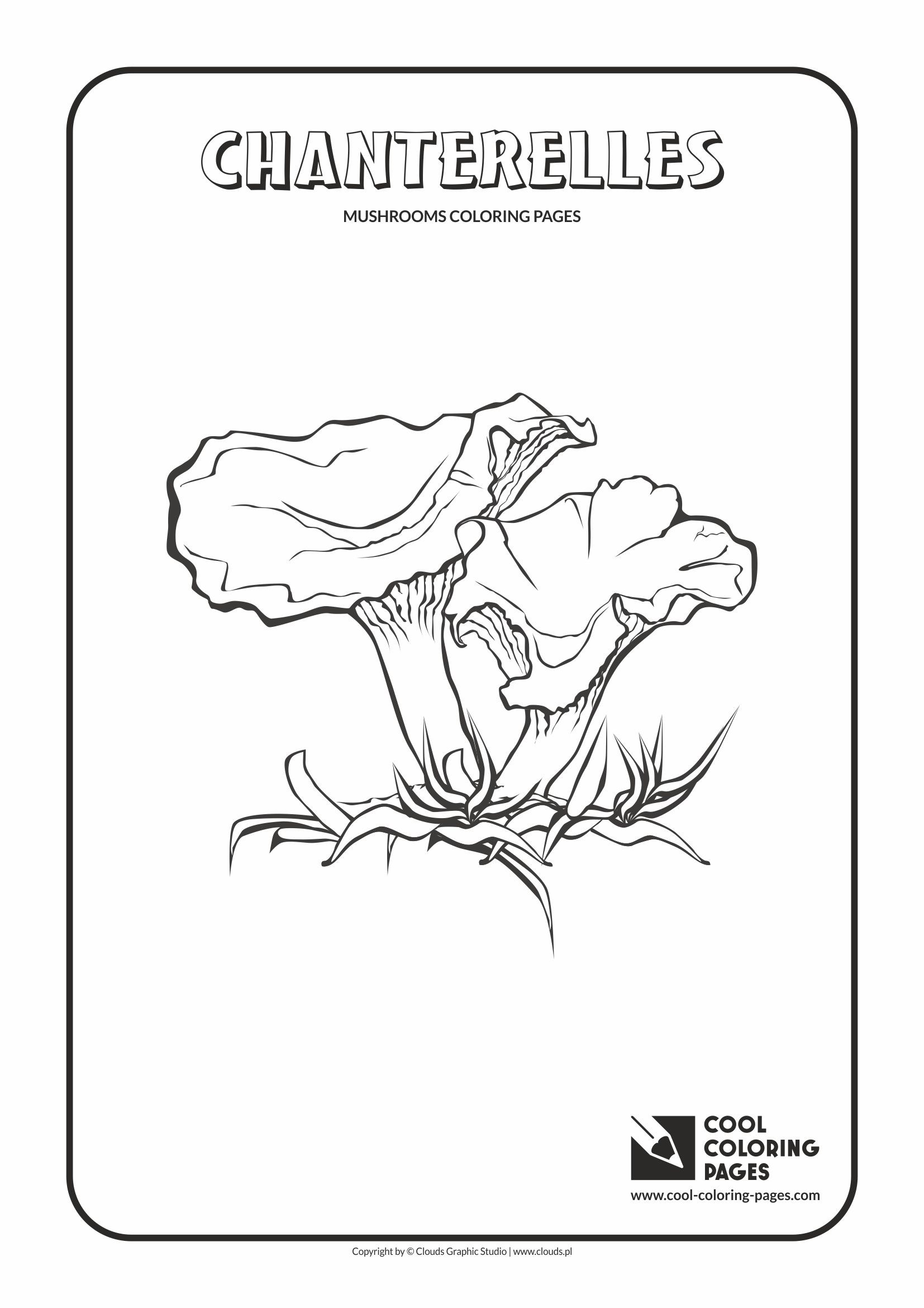 mushroom coloring pages - mushrooms coloring pages