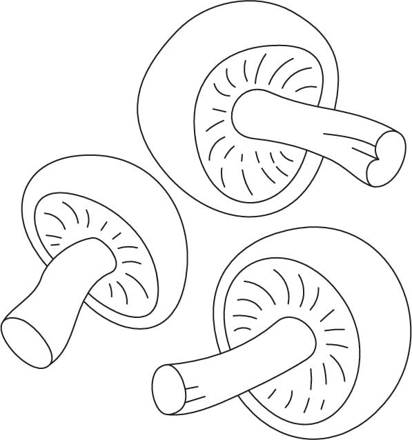 mushroom coloring pages - three small mushrooms coloring page 1d4253
