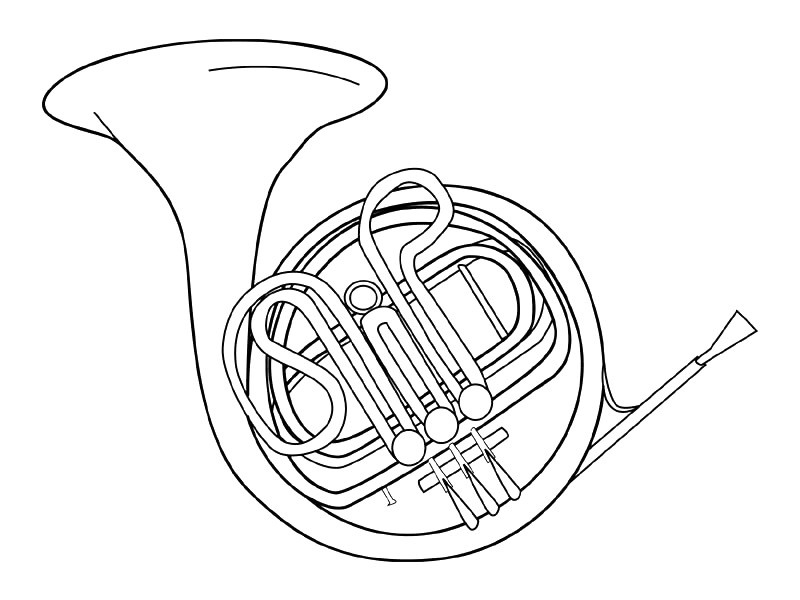 musical instruments coloring pages - musical instruments coloring page