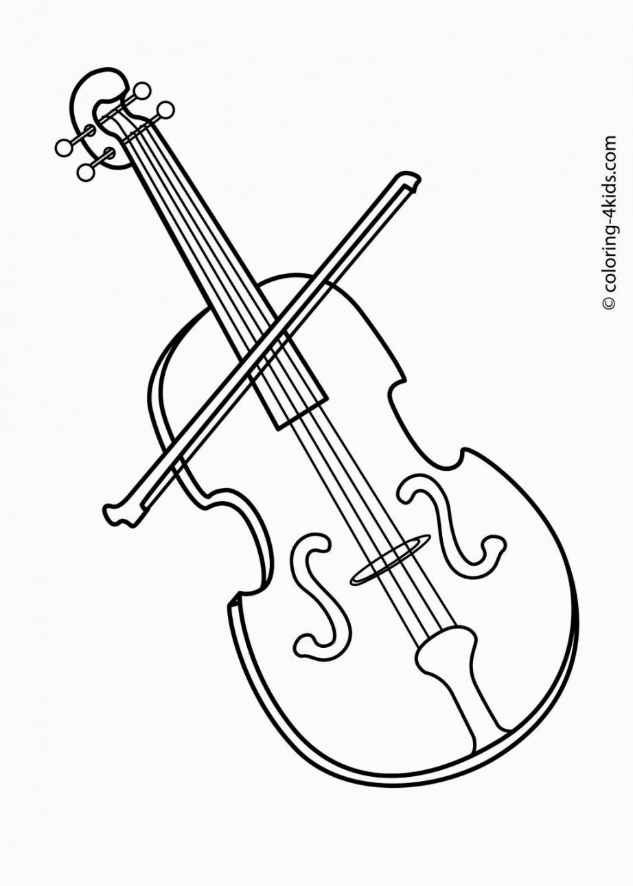 musical instruments coloring pages -