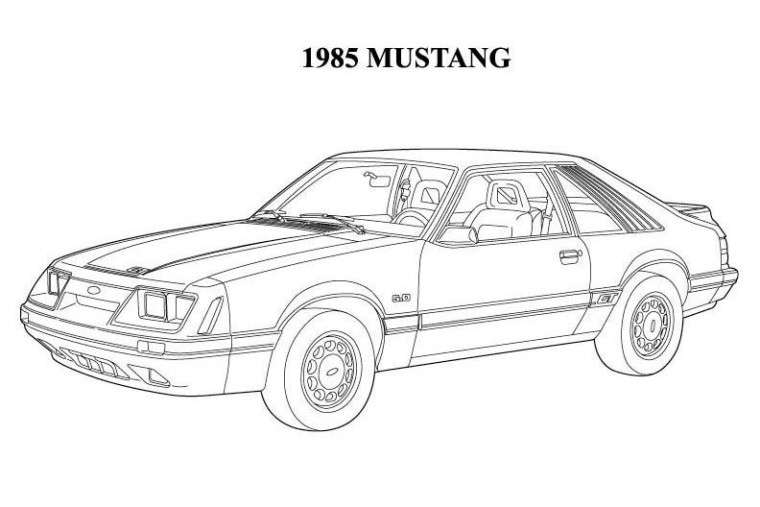 mustang coloring pages -