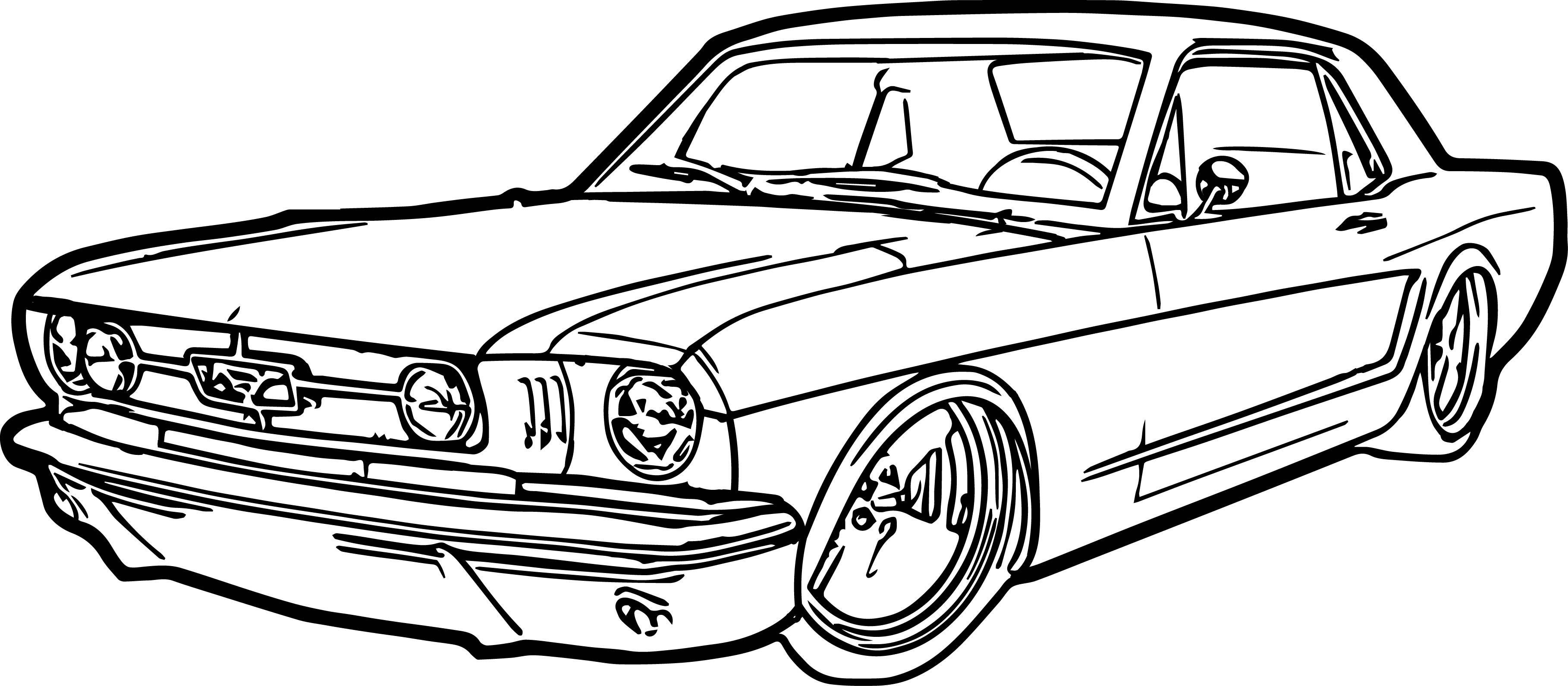 mustang coloring pages - ford mustang car coloring page