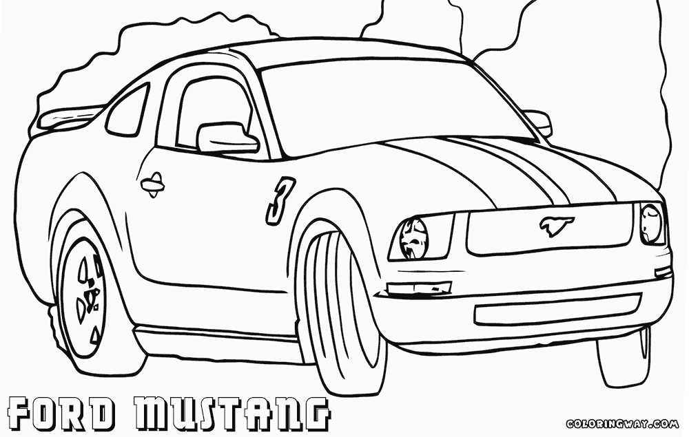 mustang coloring pages - ford mustang coloring pages