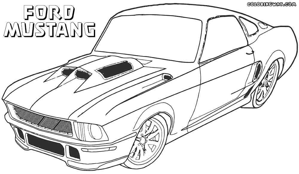 mustang coloring pages - ford mustang drawing coloring sketch templates