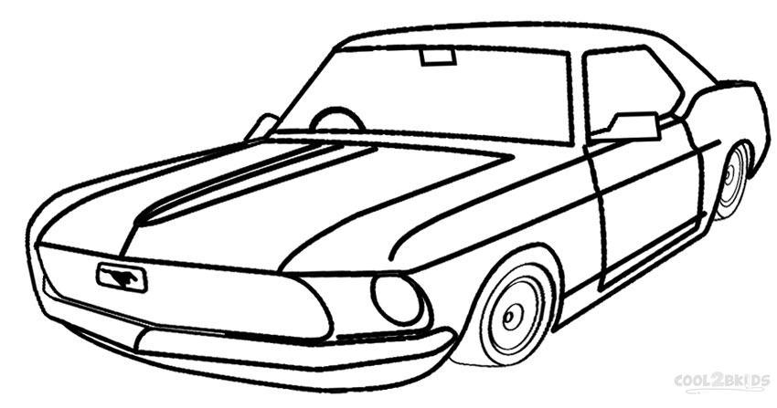 mustang coloring pages - mustange car