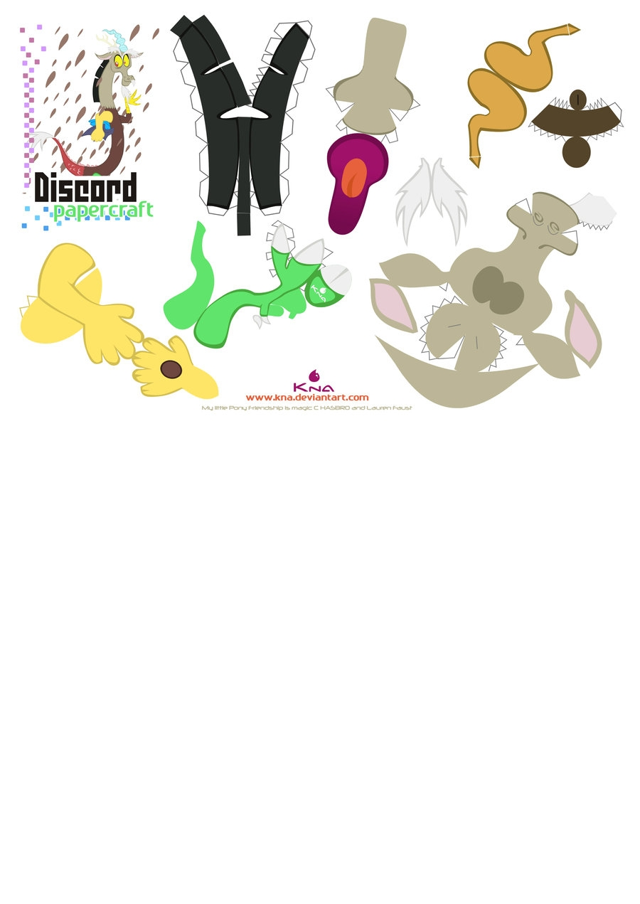 my little pony coloring pages - Discord Pcraft pattern 02
