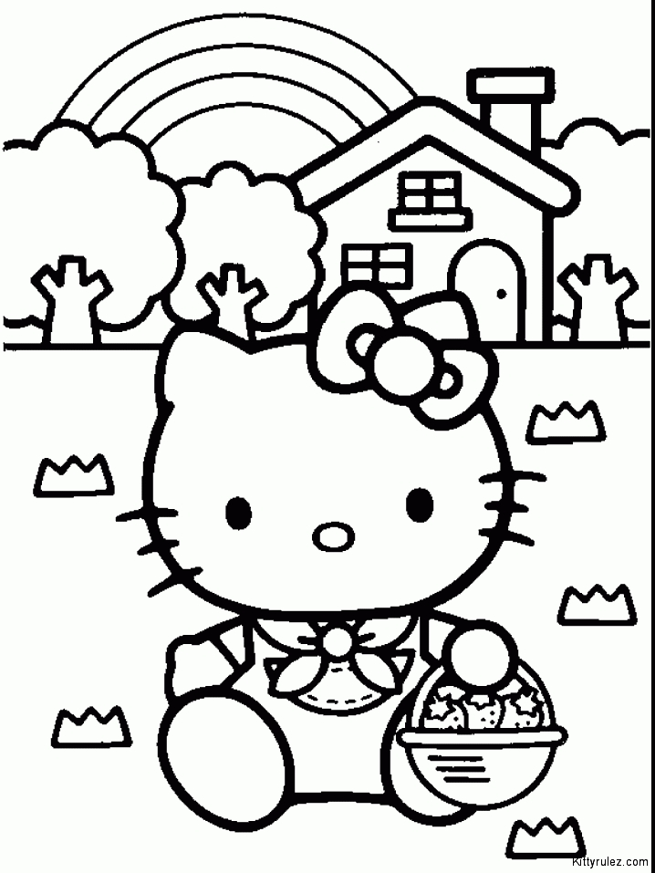 my little pony coloring pages - drawings of hello kitty