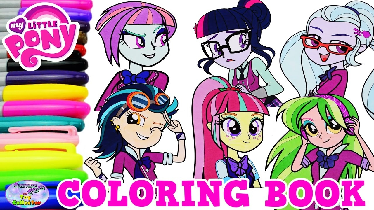 my little pony equestria girls coloring pages - watch v=dYIpg THitg