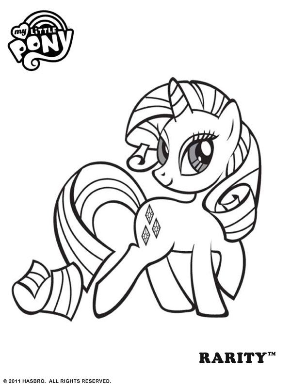 my little pony friendship is magic coloring pages - kids kleurplaten