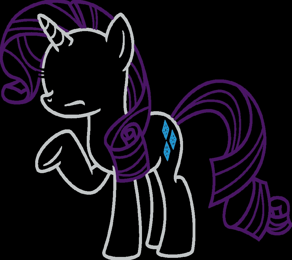 my little pony friendship is magic coloring pages - Rarity is Still Confused Outline