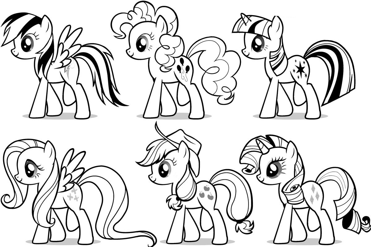 My Little Pony Printable Coloring Pages - Free Printable My Little Pony Coloring Pages for Kids