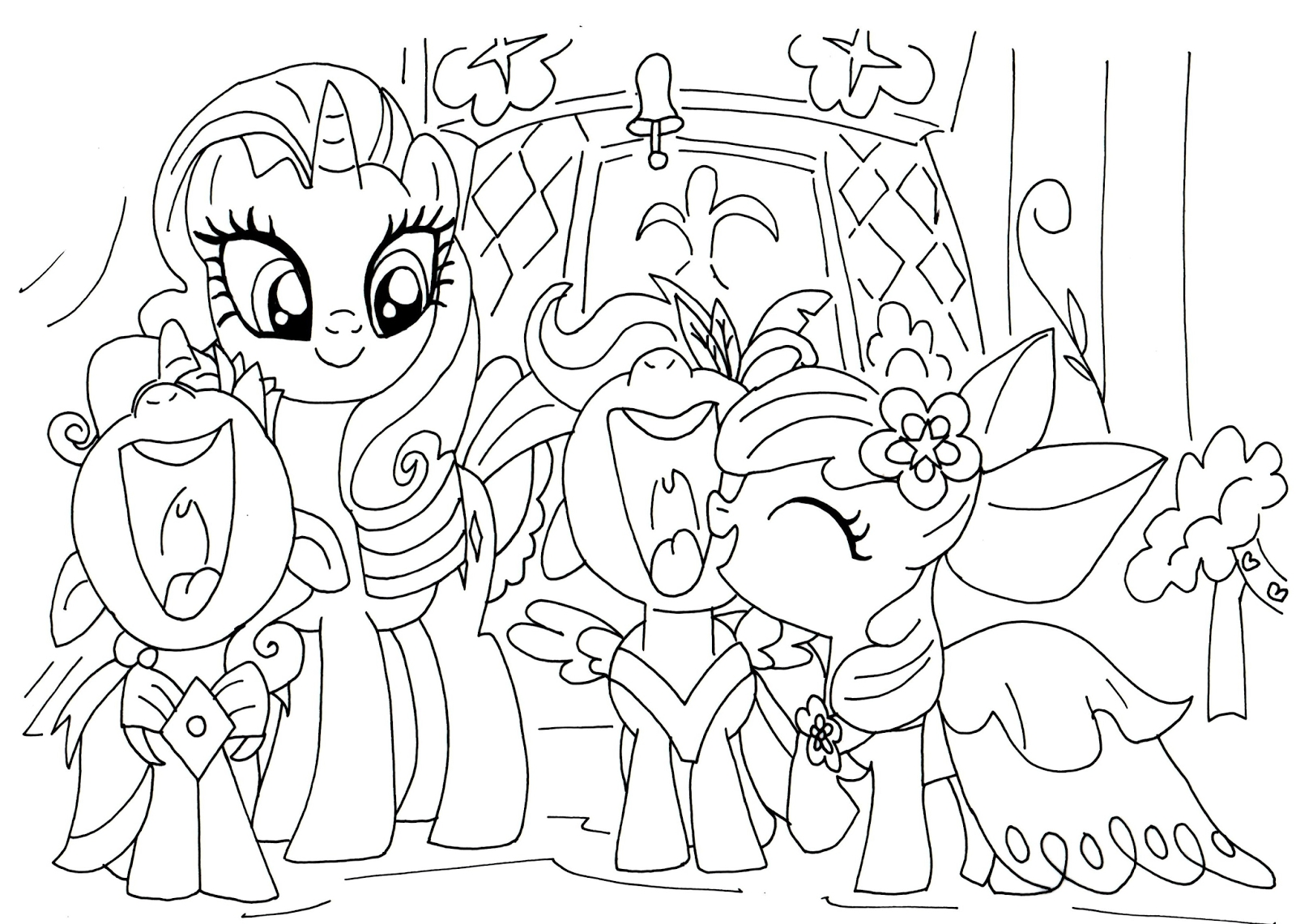 my little pony printable coloring pages - 2016 01 01 archive