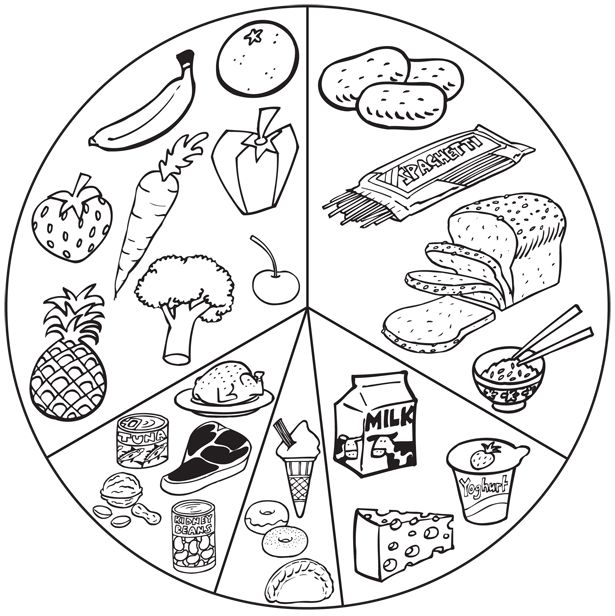 myplate coloring page - myplate food coloring pages sketch templates