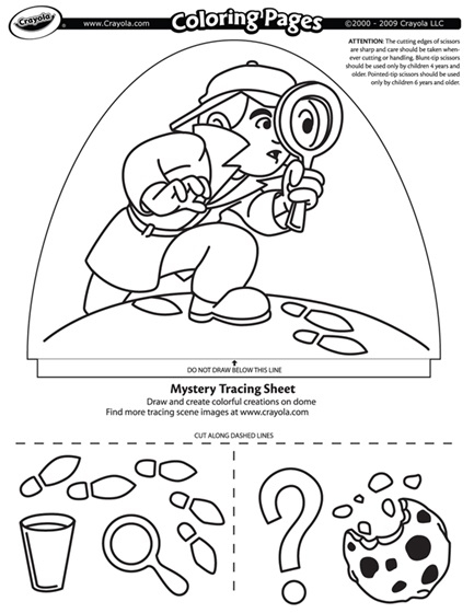 mystery coloring pages - dome light designer mystery search coloring page