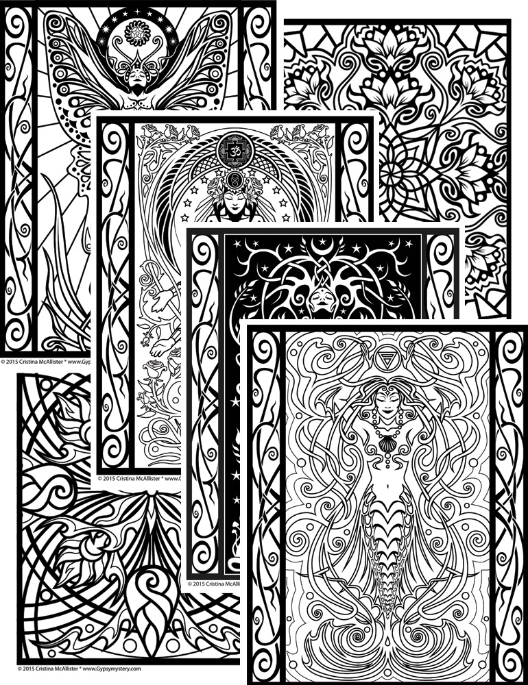 mystery coloring pages - coloring book