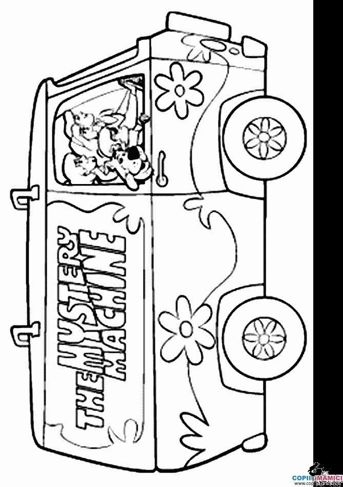 mystery coloring pages - mystery machine coloring pages