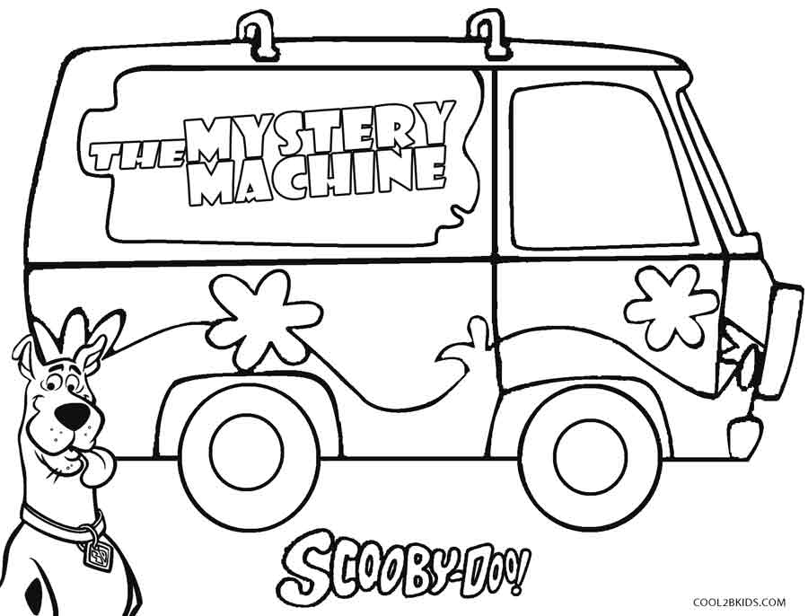 mystery coloring pages - printable coloring pages mystery machine sketch templates