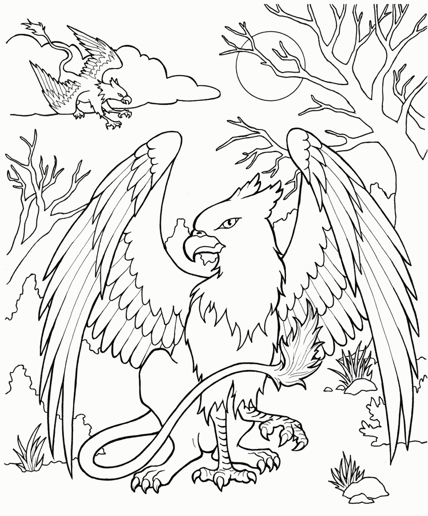 Mythical Creatures Coloring Pages - Free Coloring Pages Mythological Creatures Coloring Home