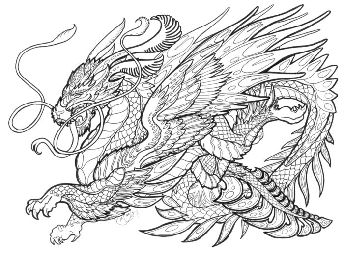 mythical creatures coloring pages -