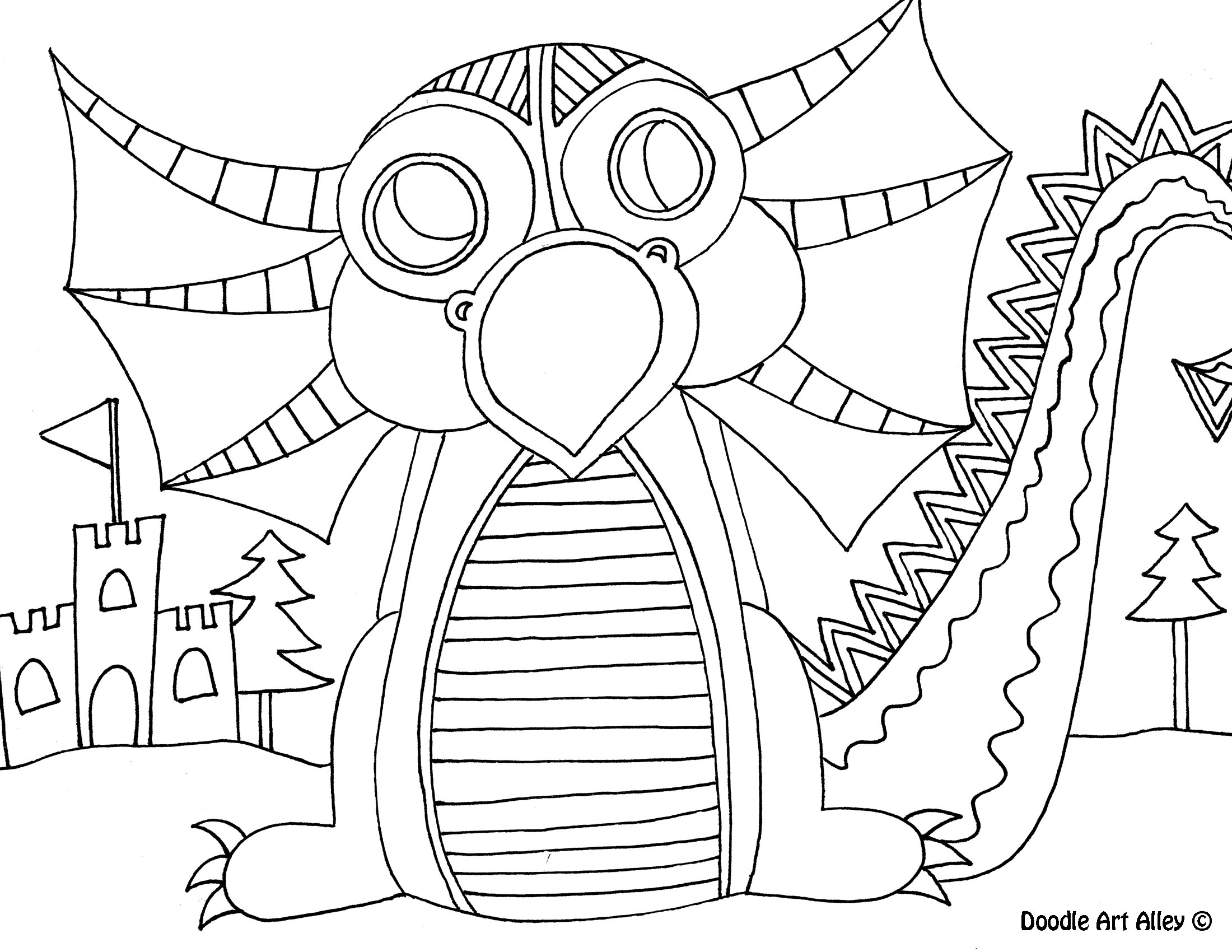 mythical creatures coloring pages - mythical creatures coloring pages