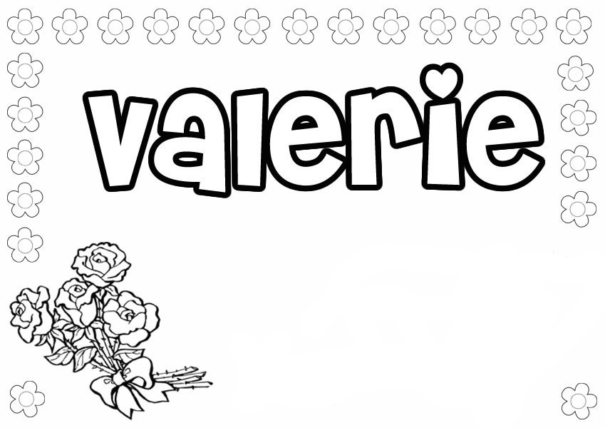name coloring pages - girls names coloring pages