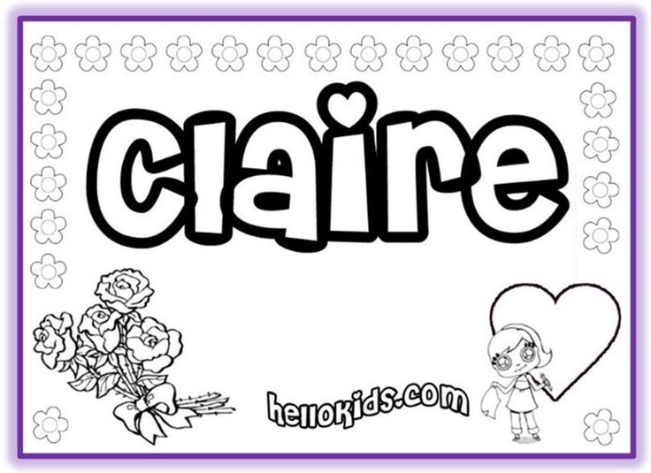 name coloring pages -