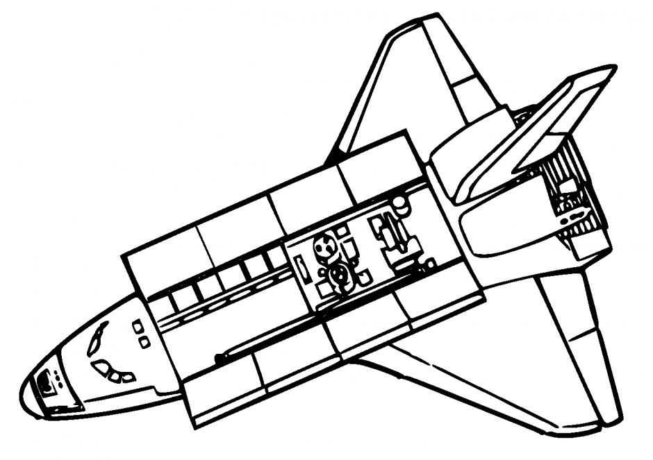nasa coloring pages - space shuttle coloring page