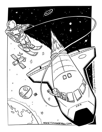 nasa coloring pages - space shuttle facts for kids