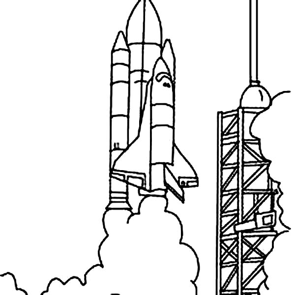 nasa coloring pages - Space Shuttle