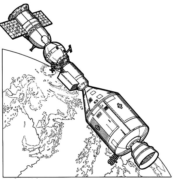 nasa coloring pages - space travel nasa satelite coloring pages