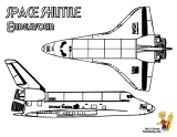 nasa coloring pages - space shuttle coloring