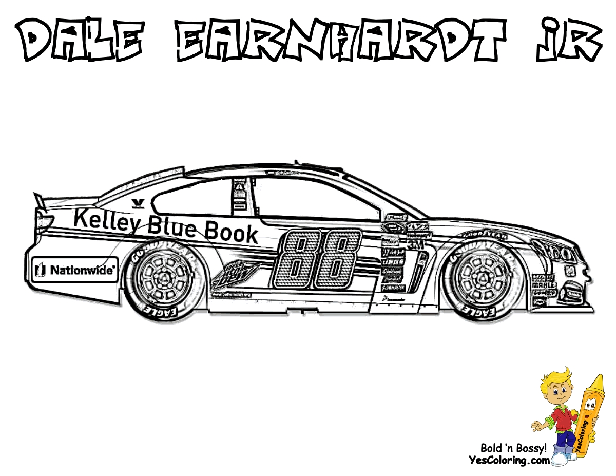 nascar coloring pages - free nascar coloring pages