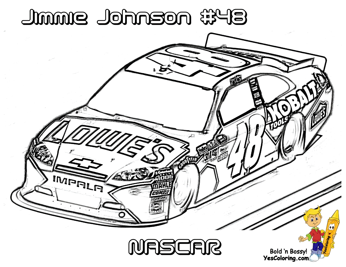 nascar coloring pages - race car coloring pages