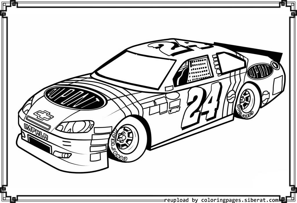 Nascar Coloring Pages - Nascar Coloring Pages for Kids Coloring Home