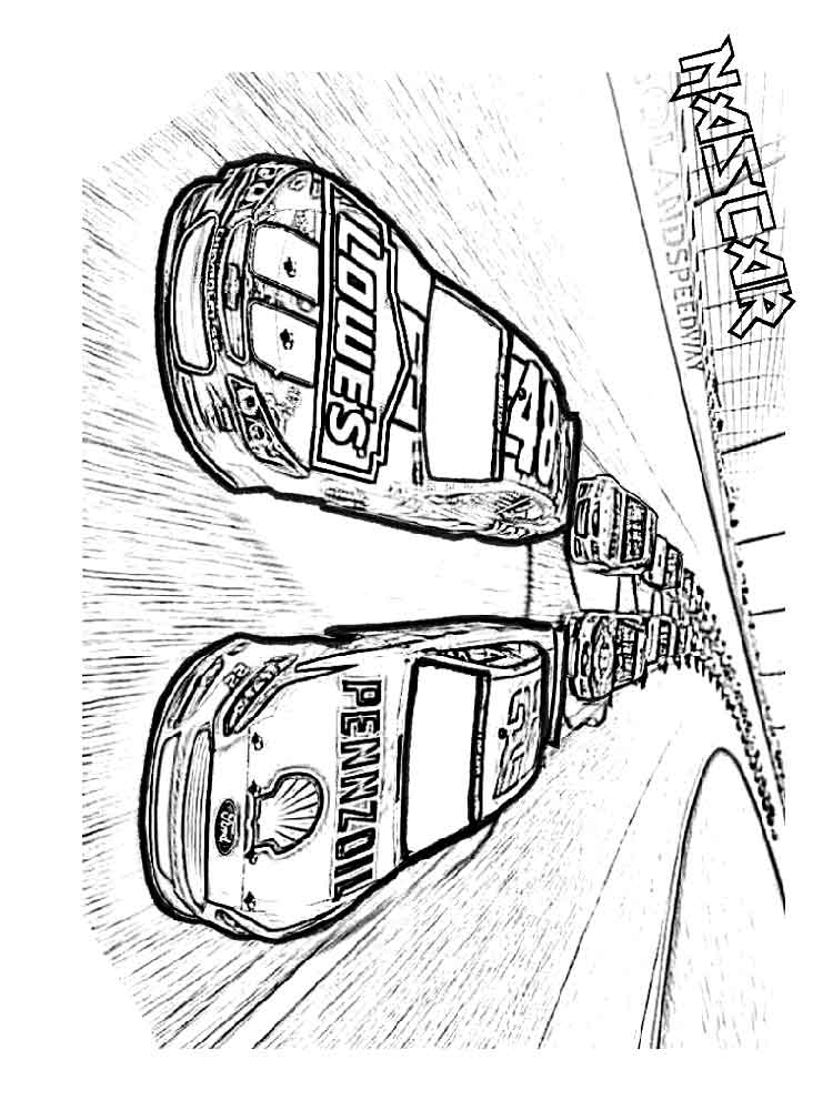 nascar coloring pages - nascar coloring pages
