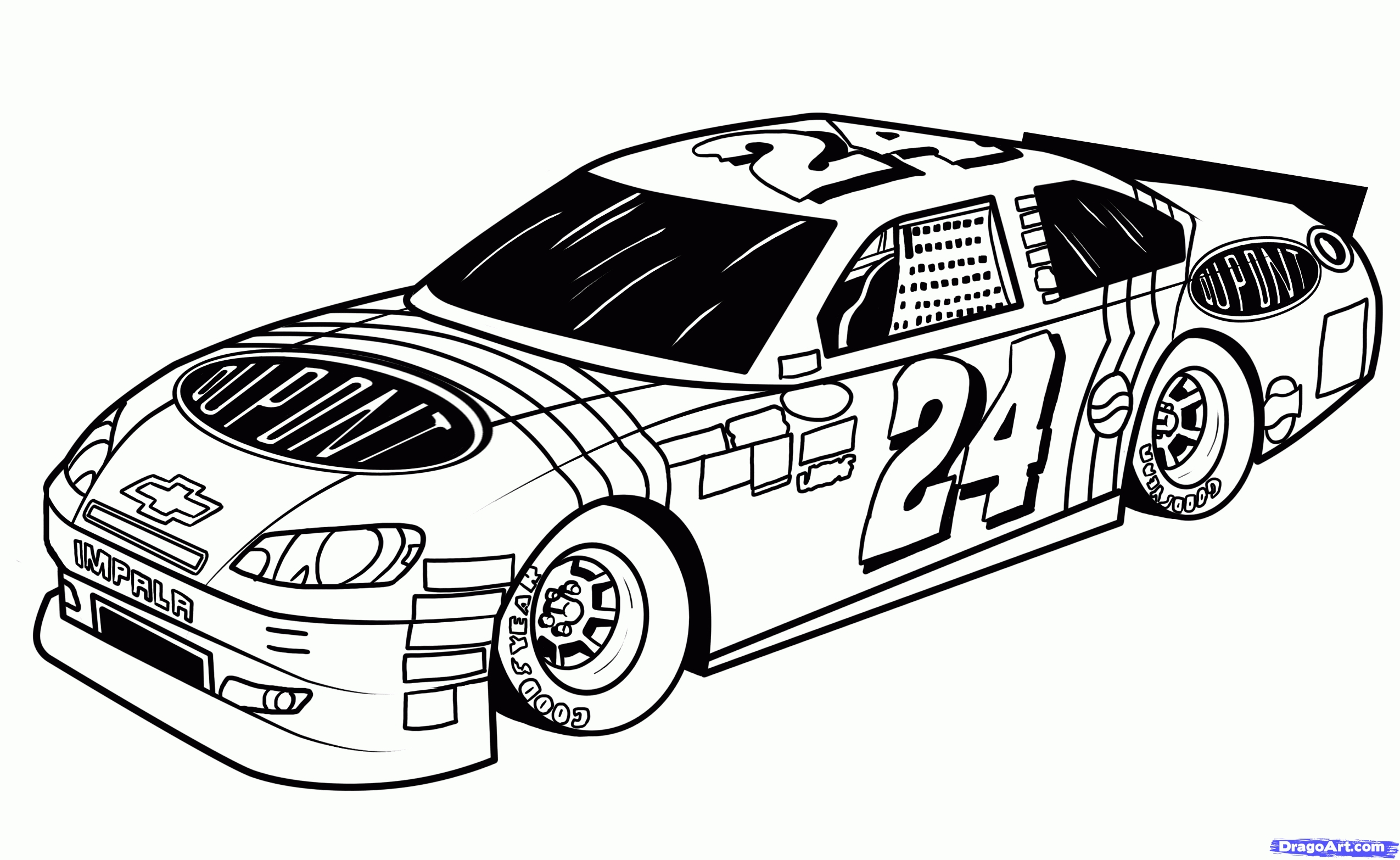 nascar coloring pages - nascar coloring pages jeff gordon