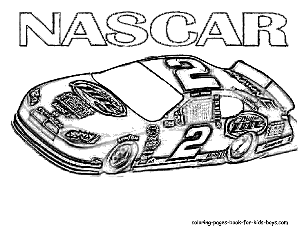 nascar coloring pages - freecoloring ca nascar nascar006